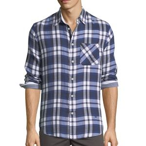 rag & bone Blue Plaid Beach Shirt Fit 3 Sz Mens S